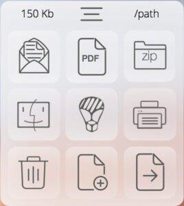 TextDoc Actions window
